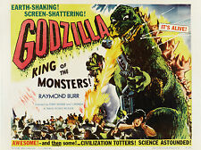 """Godzilla King of the Monster 1956 16"""" x 12"""" Reproduction Movie Poster Photograph"""