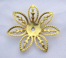Brass Petals Filigree Findings Flower Components DIY Crafts bf208 (10pcs)