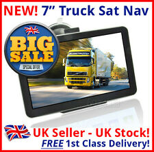 BEST DEAL UK HGV TRUCK SAT NAV 7 INCH 2016 8GB  CAR CARAVAN COACH MOTORHOME