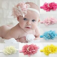 Fashion Baby Girl Headband 1pcs Rose Pearl Newborn Flower Headband Baby Girls,