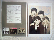 """2 x BEATLES AUTOGRAPHED, 10"""" X 8"""" REPRODUCED ON GLOSSY PHOTO PAPER FOR FRAMING"""