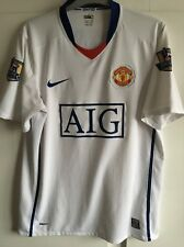 *M* 2008/09 MANCHESTER UTD Away Football Shirt Patches ANDERSON #8