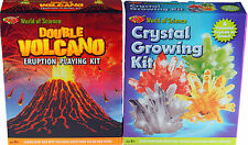 Set Of 2 Older Kid's Science Gifts - Grow Your Own Crystals / Volcano Kit
