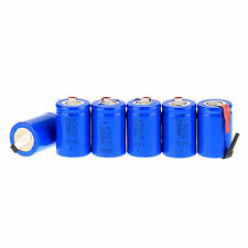 Hot 6Pcs NiCd 4/5 SubC Sub C 1.2V 2200mAh Ni-Cd Rechargeable Battery &Tab Blue