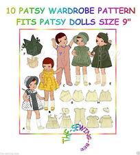 """fits Patsyette, Patsy Doll Wardrobe Pattern dolls Size 9"""" Vintage #10"""