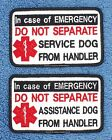 IN CASE OF EMERGENCY DO NOT SEPARATE SERVICE ASSISTANCE DOG PATCH Danny & LuAnns