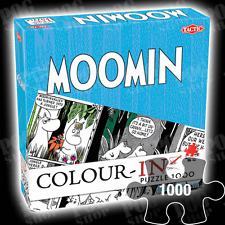 NEW SEALED Tactic MOOMINS COLOUR-IN 1000 Piece Cartoon Comic Strip Jigsaw Puzzle