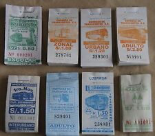 Peru lot of Note of Bus Tickets