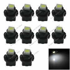 10x White T5 Neo Wedge 1 SMD 5050 LED Car Bulbs HVAC Climate Control Lights N401