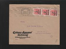 Germany Inflation Era Strip of 3 6 Million Marks Hamburg 1923 Industry Cover 6z