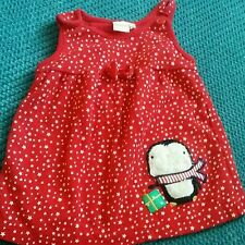 0-3 months girl winter christmas red dress bluezoo