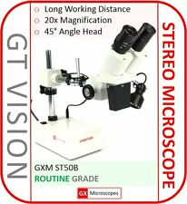 ST50B Stereo Microscope, 20X Mag. PCB Inspection/Mobile Phone Repair/Engraving