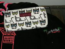 Bungalow 360 Übër Cute Kitty Cat Zip Wallet! Fair Trade Eco-Friendly!  3