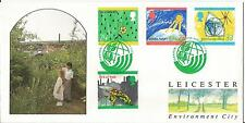 Ambiente GB Leicester City VERDE TIMBRO Issue 1992 Shelley (Stampanti) COVER