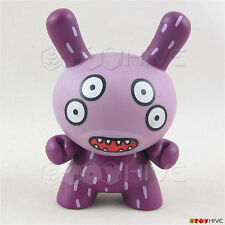 Kidrobot Dunny 2005 Series 2 2-Faced by David Horvath loose purple vinyl figure