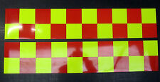 Self Adhesive Reflective Battenberg Side Reflectors 1000mm Red/Yellow