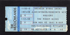 1981 Moody Blues concert ticket stub Meadowlands Long Distance Voyager Halloween