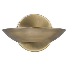 SEARCHLIGHT 1 LIGHT ANTIQUE BRASS FINISH STYLISH HALOGEN WALL UPLIGHT WALL LIGHT