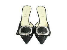 Prada Black Mule With Heel and Buckle Detail Size 36/6