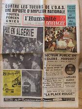 L'Humanité Dimanche (26 nov 1961) Jouets - R Devos - Paris judo - Marie Besnard