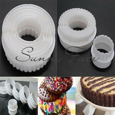 1SET Round & Wave Cake Biscuit Cookie Fondant Cutter Mould Sugarcraft Decor 6PCS
