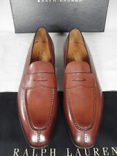 NEW GAZIANO GIRLING for RALPH LAUREN Brown Leather Loafer Shoes UK 8.5 E £995