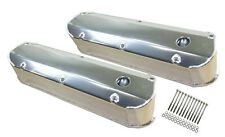 SBF Ford Polished Fabricated Aluminum Valve Covers - Long Bolt 289 302 351W