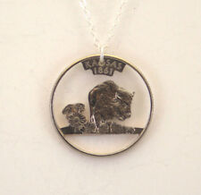 Kansas, Cut-Out Coin Jewelry, Necklace/Pendant