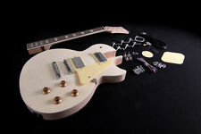 DIY Electric Guitar Kit Project Set-In Solid Mahogany Body Neck Flamed Maple