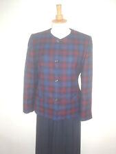 LADIES BLUE & RED CHECK LEAD REIN JACKET SIZE 10