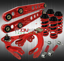 93-97 DEL SOL LOWER CONTROL ARM LCA + LOWERING COIL OVER SLEEVE + F/R CAMBER KIT