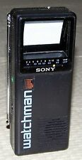"SONY WATCHMAN FD-2A 2""CRT VHF & UHF ANALOG PORTABLE TELEVISION. MADE IN JAPAN"