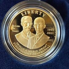 2003-W GOLD $10 FIRST FLIGHT COMMEMORATIVE PROOF COIN WITH COA AND BOX