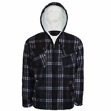 BRAND NEW MENS WINTER FLEECE CHECK SHIRT WARM  WORK CASUAL JACKET SIZE M TO 3XL