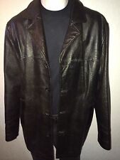 SUPERNATURAL DEAN WINCHESTER WILSONS LEATHER CAR COAT JACKET * XLRG * BLACK