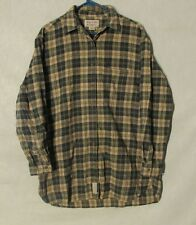 W5991 Abercrombie & Fitch Medium Mens Tan/Green/Blue Plaid Long Sleeve Shirt