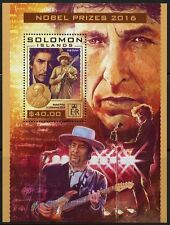 SOLOMON ISLANDS 2016 NOBEL PRIZE WINNER BOB DYLAN  SOUVENIR SHEET MINT NH