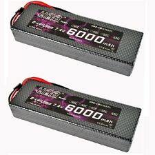 2pcs HRB RC Lipo Battery 7.4V 6000MAH 60C-120C Hard Case For Truck Traxxas Car