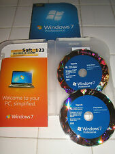 Microsoft Windows 7 Professional Upgrade 32 Bit and 64 Bit DVD MS WIN PRO =NEW=