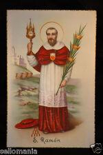 ANTIGUA ESTAMPA SAN RAMON . SAINT RAMON HOLY CARD . MAS EN MI TIENDA EBAY CCER39