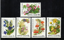 RUSSIA 1988 FLOWERS SG5891-5895 UNMOUNTED MINT