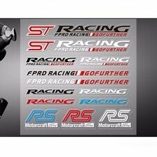 Newest ST RS Car Styling Decal Decoration Stickers for Ford Racing Fiesta Focus