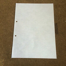 A4 Graph paper 5MM Squares 30 Loose Sheets Double Sided 2 Holes Punched