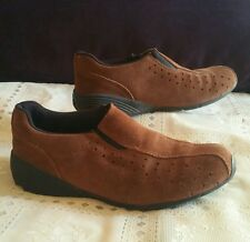 Predictions Leather Collection slip on suede comfort walking shoes, size 6.5