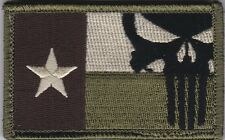 Texas Punisher Flag patch full hook backing multicam - NOT FROM CHINA!!