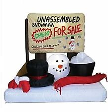 UNASSEMBLED SNOWMAN CHRISTMAS INFLATABLE OUTDOOR HOLIDAY DECORATION