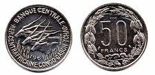 ESSAI 50 frs 1961 Banque centrale république centrafricaine Congo Gabon Tchad