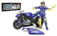 Minichamps Valentino Rossi Bike/Figurine Yamaha Donington 2005 - 1/12 Scale