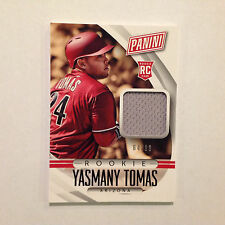 YASMANY TOMAS #70 RC 64/99 made Jersey Hat Relic Rookie 2015 Panini National
