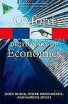 A Dictionary of Economics By Black, John / Oxford Quick Reference Book VERY GOOD
